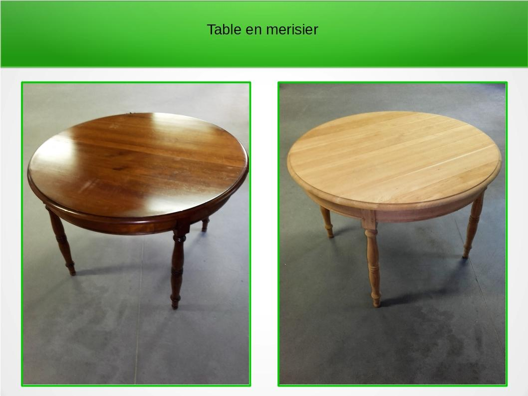 Table en merisier